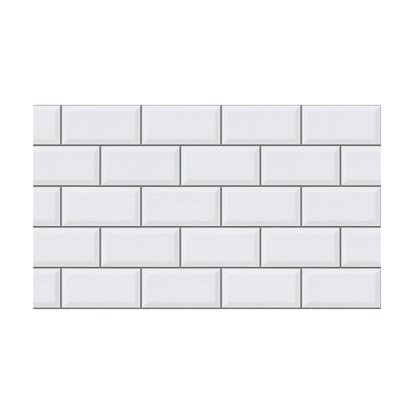 Blanco Biselado Brilo 10x20