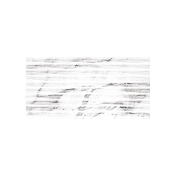 Carrara Lined White Shine 30x60