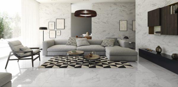 Carrara White Shine 30x60 - интерьер №2