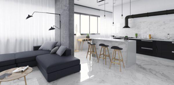 Carrara White Shine 30x60 - интерьер №3