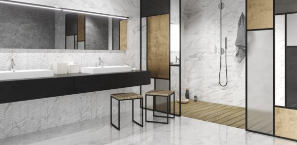 Carrara White Shine 30x60 - интерьер №1