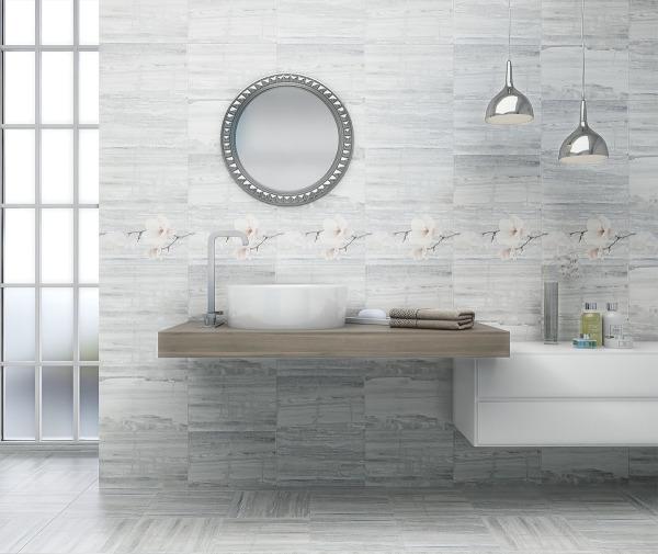 Pastel Light Grey 33.3x33.3 III - интерьер №1